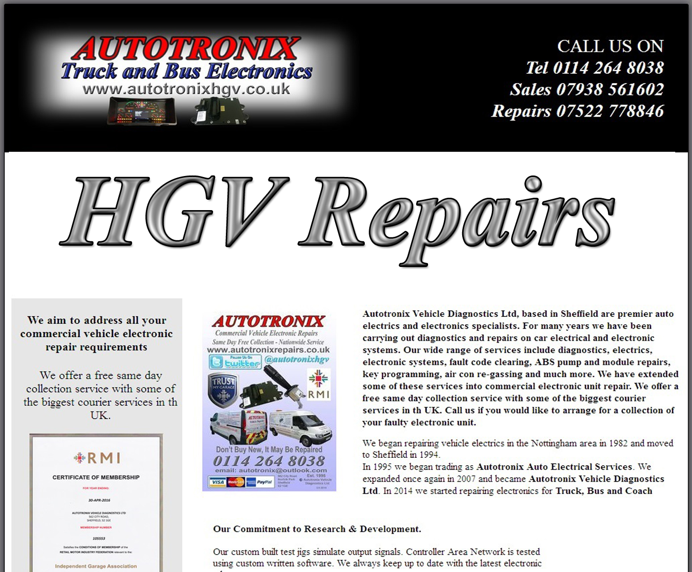 HGV Front Page